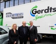 Mercedes Veranstaltung für die ersten Hybrid LKWs